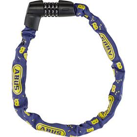 ABUS Tresor 1385/75 candado de cadena, azul/amarillo
